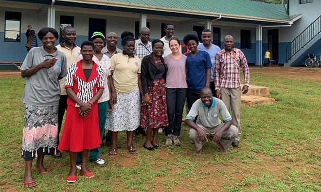 Third-year UC student Olivia Heltman took part in Project Bududa, Uganda, with the Foundation for International Medical Relief of Children.
