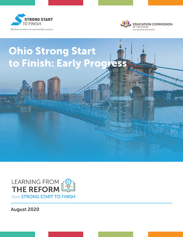 Ohio Strong Start to Finish: Early Progress Report